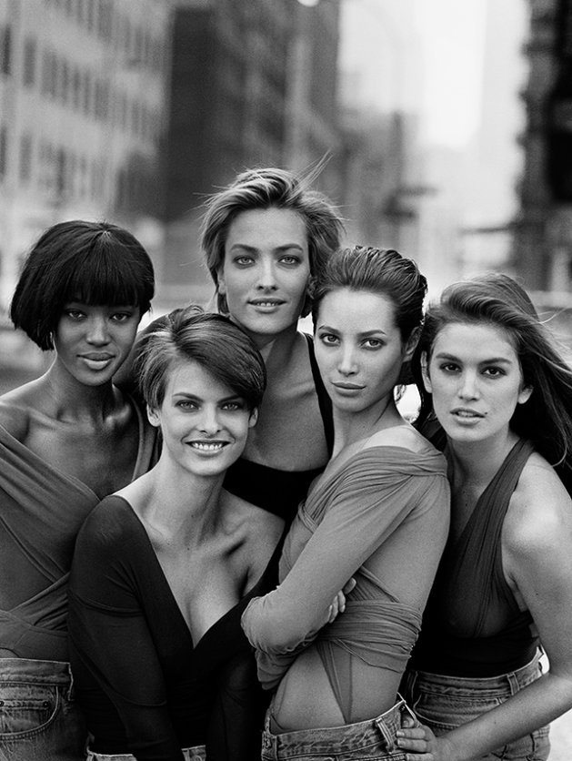 Naomi Campbell, Lind Evangelista, Tatjana Patitz, Christy Turlington, Cindy Crawford