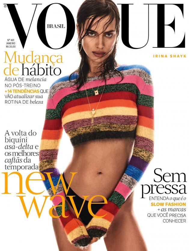 Irina Shayk by Giampaolo Sgura, VOGUE Brasil January 2017
