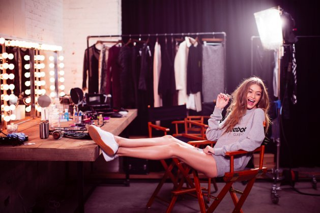Gigi Hadid w kampanii Reebok Club C 85 Diamons