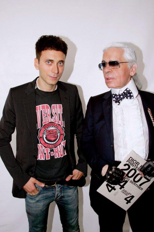 Hedi Slimane & Karl Lagerfeld