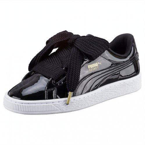 Sneakersy PUMA Basket Heart wiązane na słodkie kokardy
