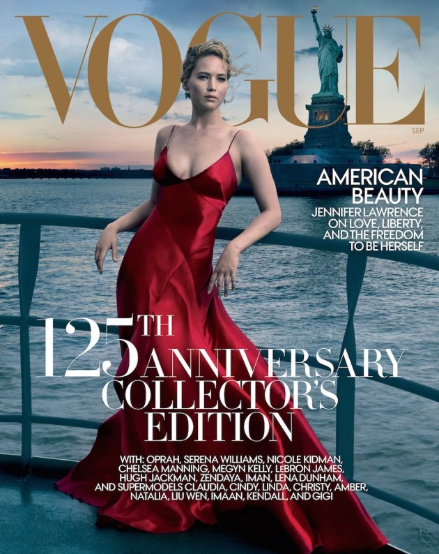 US VOGUE September 2017: Jennifer Lawrence by Annie Leibovitz