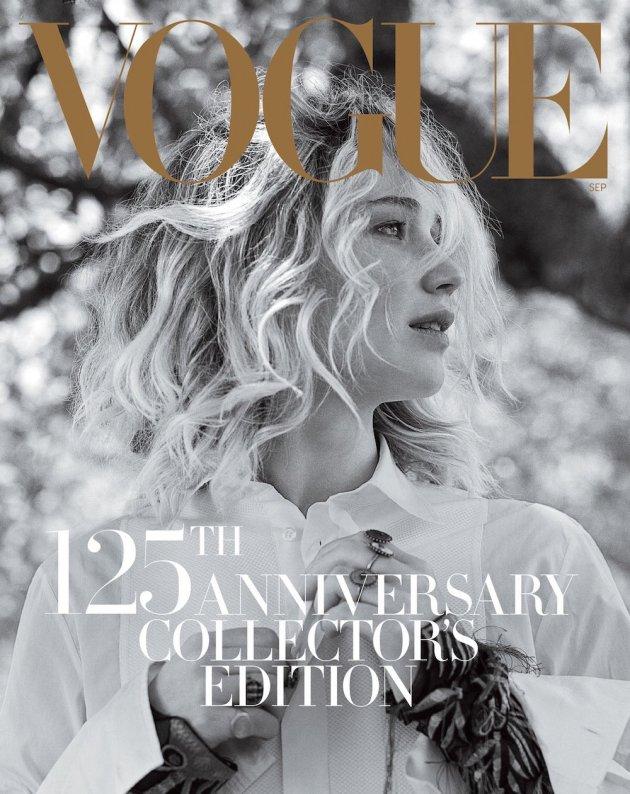 US VOGUE September 2017: Jennifer Lawrence by Bruce Weber