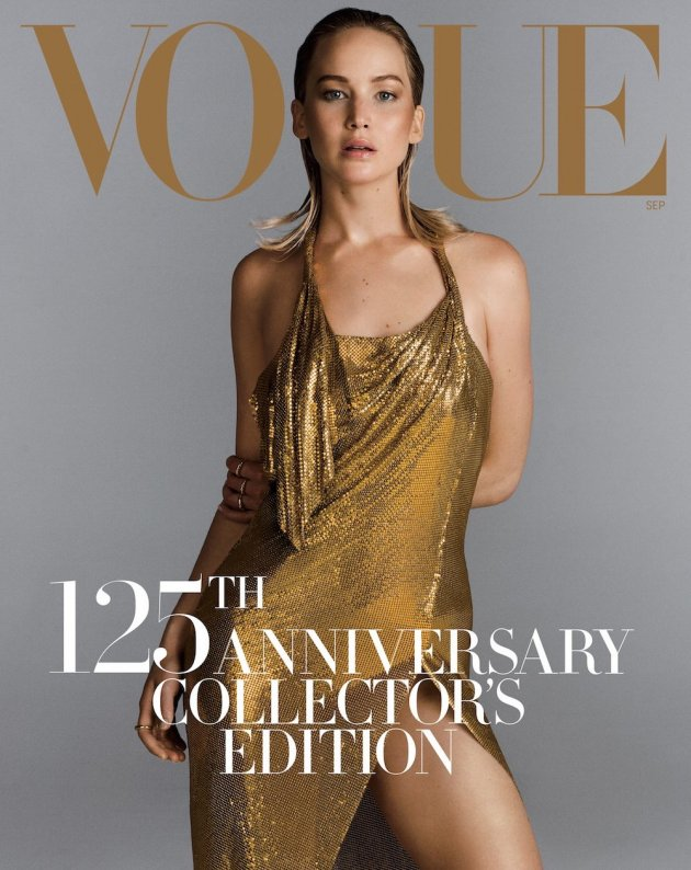 US VOGUE September 2017: Jennifer Lawrence by Inez van Lamsweerde & Vinoodh Matadin