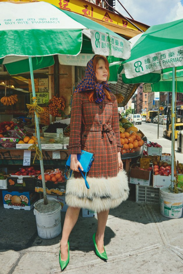 Julia Banaś by Catherine Servel, The China Town Plaid, Numéro Tokyo #111