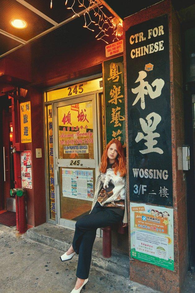 Julia Banaś by Catherine Servel, The China Town Plaid, Numéro Tokyo #111