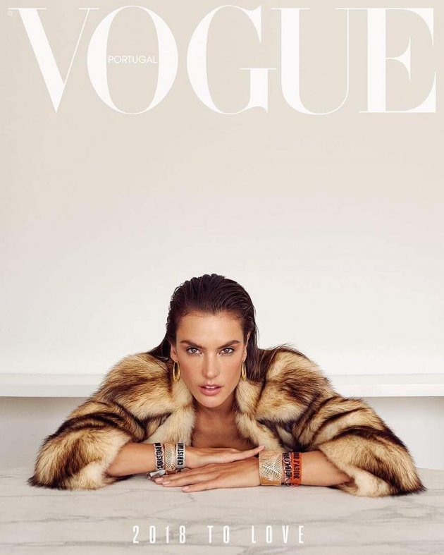 Alessandra Ambrosio by Branislav Simoncik, VOGUE Portugal, January 2018