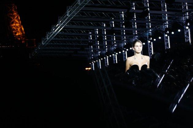 Kaia Gerber w pokazie Saint Laurent ss 2018