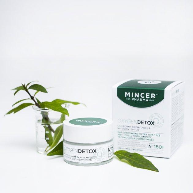 Mincer Pharma Oxygen Detox Ochronny krem-tarcza na dzień SPF 20 N° 1501