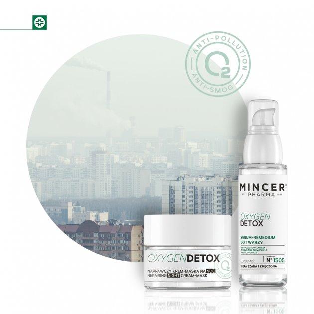 Mincer Pharma Oxygen Detox Naprawczy krem-maska na noc N° 1503 &  Serum-remedium do twarzy N° 1505
