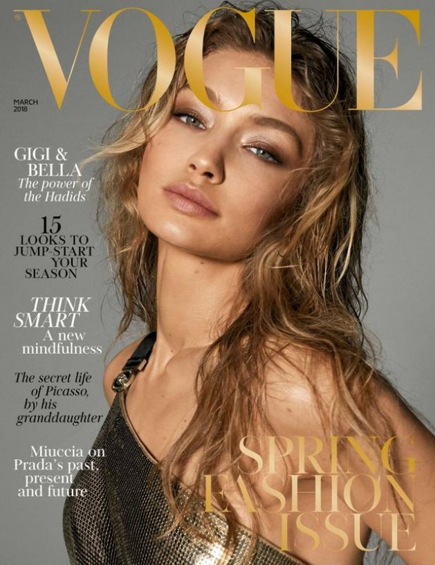 VOGUE UK March 2018, Gigi Hadid by Steven Meisel