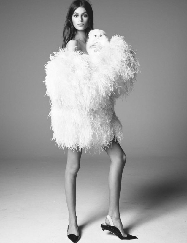 UK VOGUE March 2018, Kaia Gerber by Steven Meisel