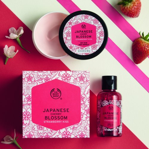 Japanese Cherry Blossom Strawberry Kiss