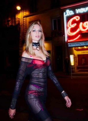 Vanessa Axente w kampanii Scandal od Jean Paul Gaultier