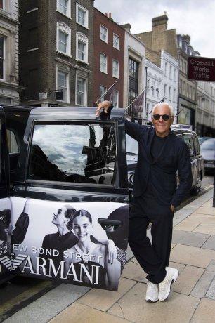 Giorgio Armani w Londynie
