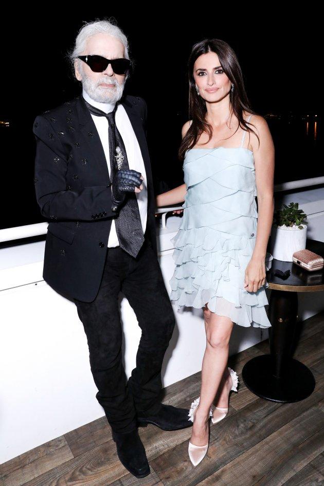 Penélope Cruz & Karl Lagerfeld